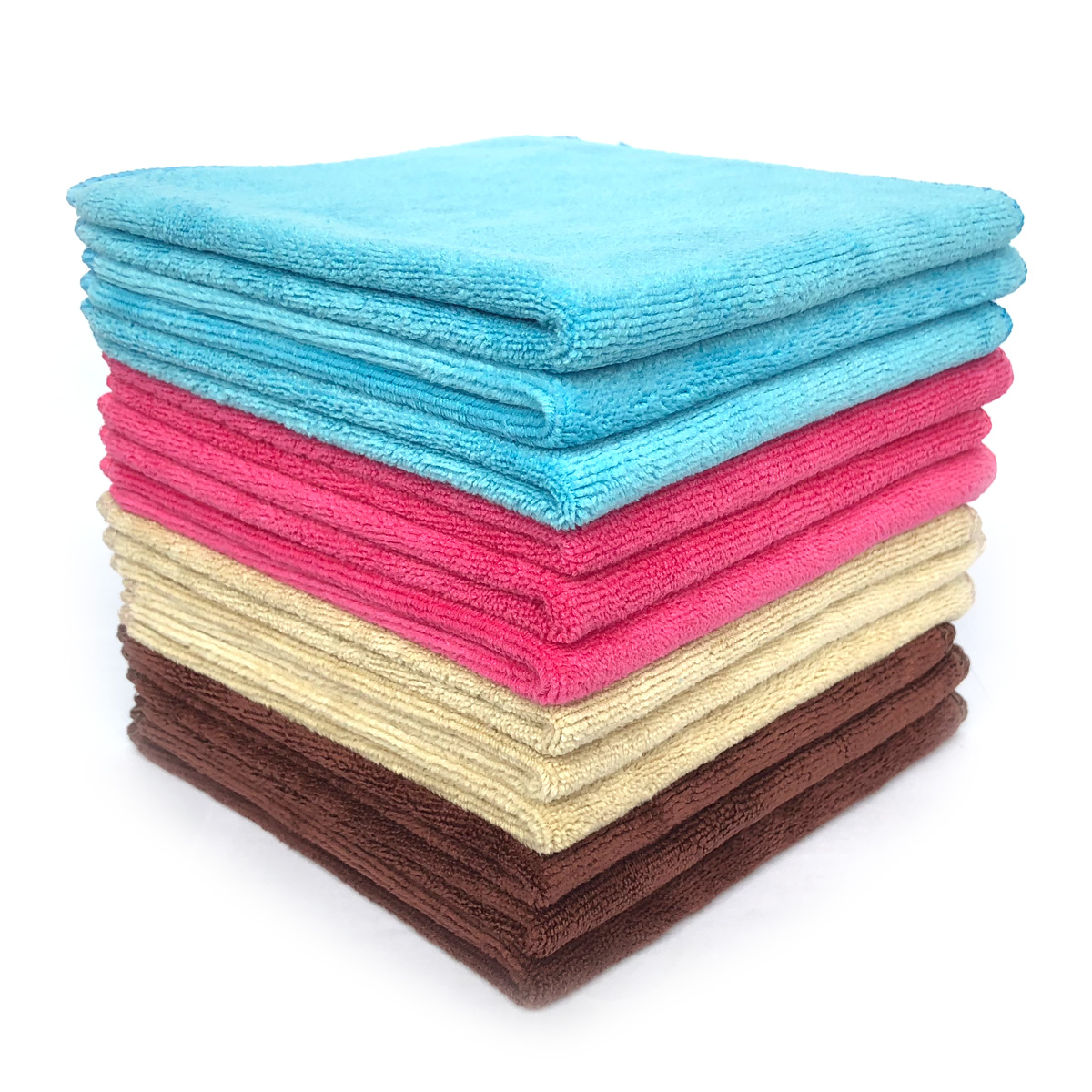 Multi-purpose Microfiber Cleaning Cloths Washcloths 12 Pack (Multi)